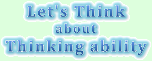 Logo of Let's Think about Thinking Ability